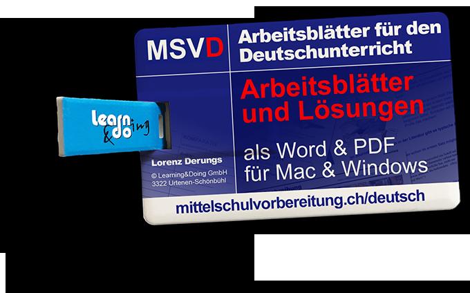 Arbeitsblätter Deutsch Mittelschulvorbereitung Zeichensetzung
